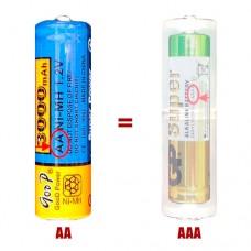 Переходник с батареекAAA на AA