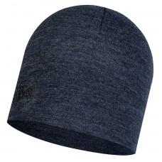 BUFF® Midweight Merino Wool Hat night blue melange