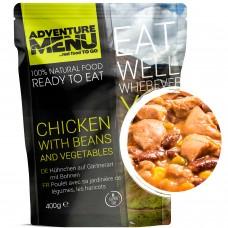 Adventure Menu курица с фасолью и овощами