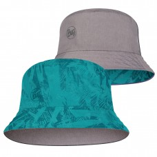 BUFF® Travel Bucket Hat açai grey-turquoise
